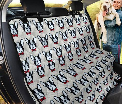 French Bulldog Pattern Print Pet Seat Covers