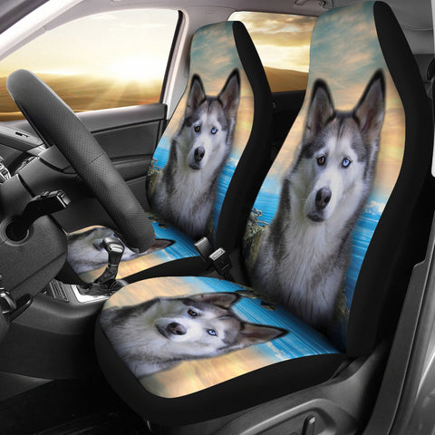 Siberian Husky Print Car Seat Covers
