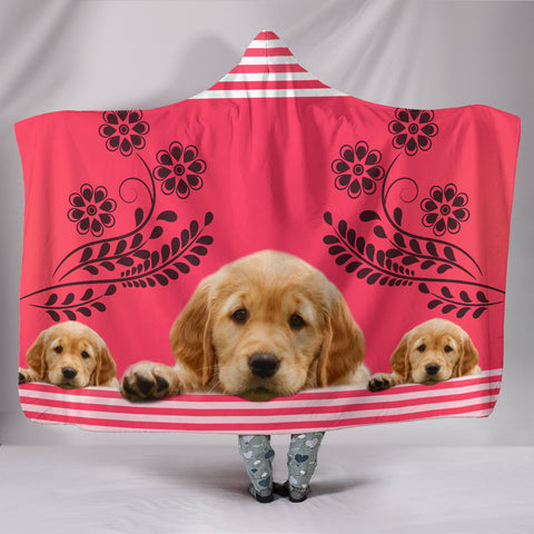 Amazing Golden Retriever Print Hooded Blanket