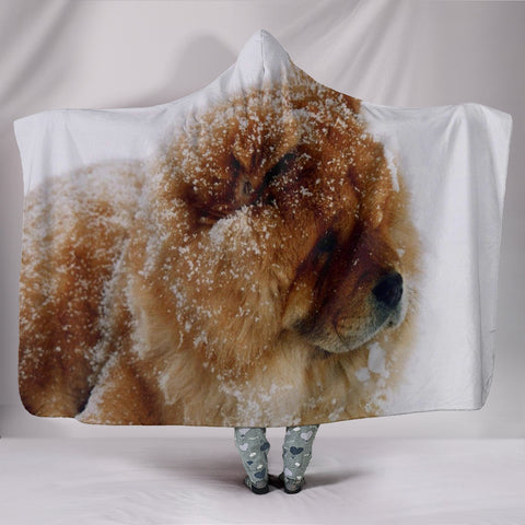 Amazing Chow Chow Dog Print Hooded Blanket