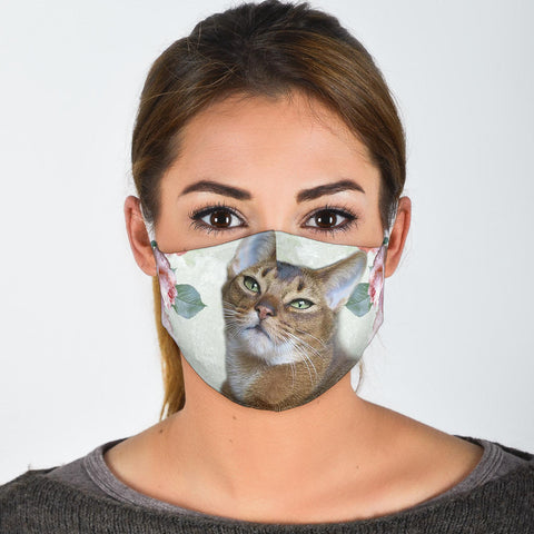 Lovely Abyssinian Cat Print Face Mask