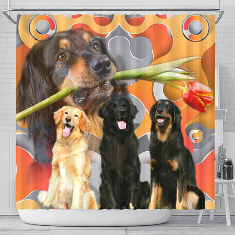 Hovawart Dog Print Shower Curtains