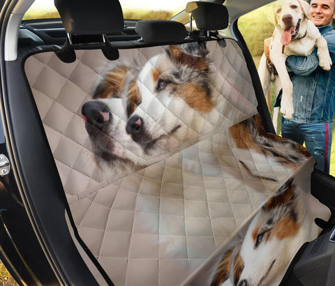 Lovely Australian Shepherd Print Pet Seat Covers