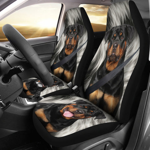 Rottweiler Print Car Seat Covers