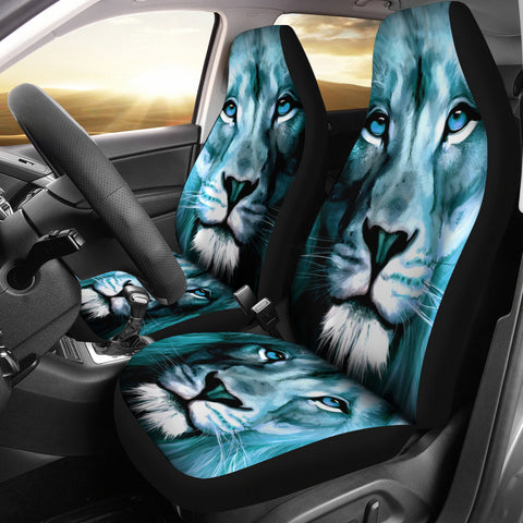 Lion Print Premium Car Seat Covers