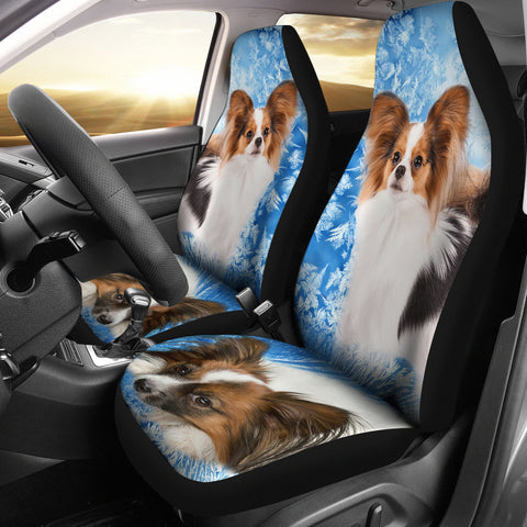 Papillon Dog Print Car Seat Covers