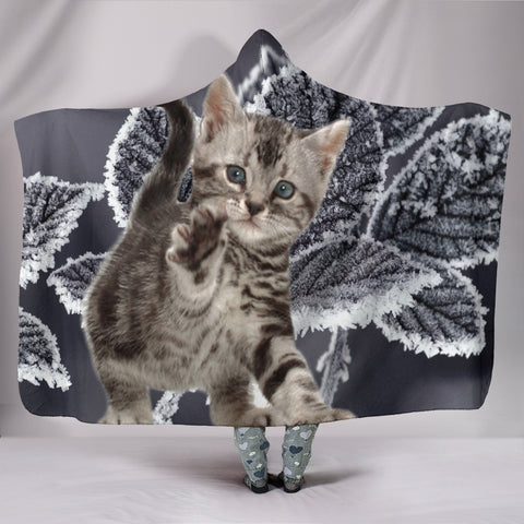 Cute American Bobtail Cat Hooded Blanket