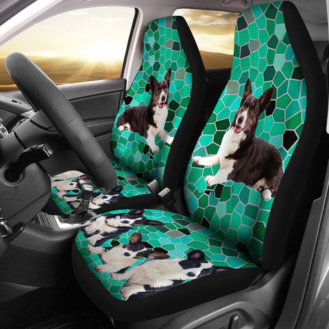Cute Cardigan Welsh Corgi Dog Print Car Seat Covers