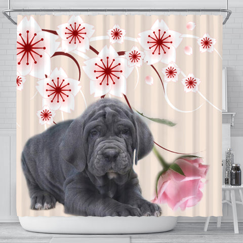 Neapolitan Mastiff Print Shower Curtain