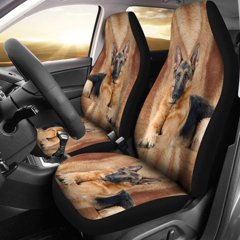 German Shepherd Dog Print Car Seat Covers