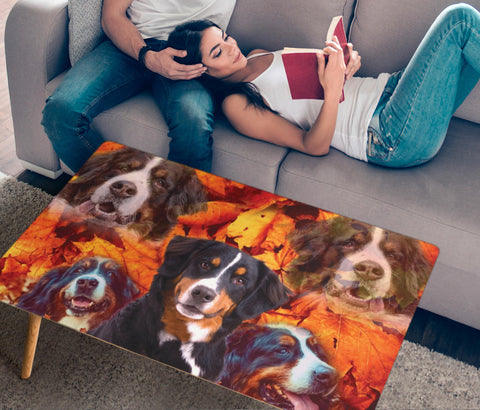 Bernese Mountain Dog Print Rectangular Coffee Table