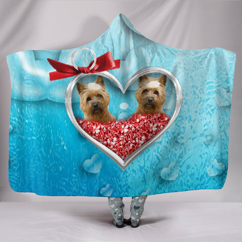 Cairn Terrier In Heart Print Hooded Blanket
