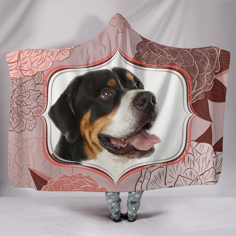 Amazing Greater Swiss Mountain Dog Print Hooded Blanket