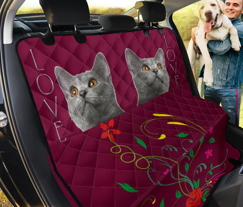 Cute Chartreux Cat Print Pet Seat Covers