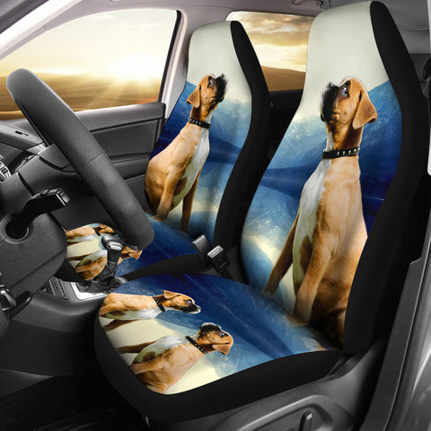 Boxer Dog Print Car Seat Covers