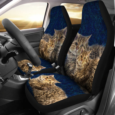 Lovely Selkirk Rex Cat Print Car Seat Covers