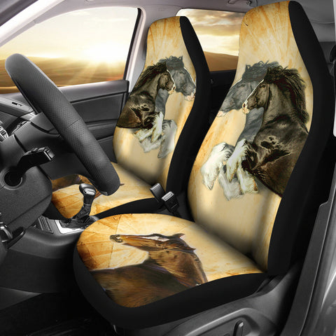 Shire Horse Print Car Seat Covers