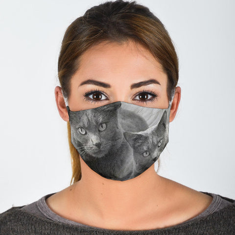 Amazing Chartreux Cat Print Face Mask