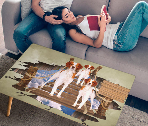 Brittany Dog 3D Print Rectangular Coffee Table