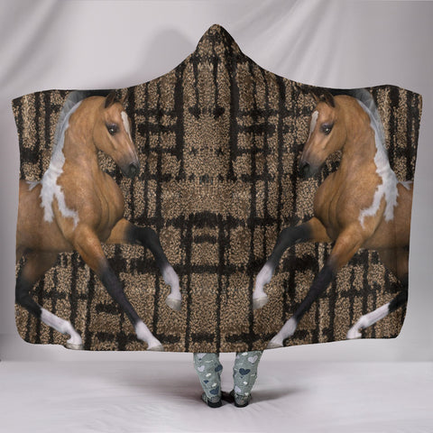 American Quarter Horse Print Hooded Blanket