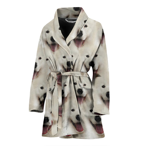Samoyed Dog Print Women's Bath Robe