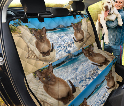 Lovely Burmese Cat Print Pet Seat Covers