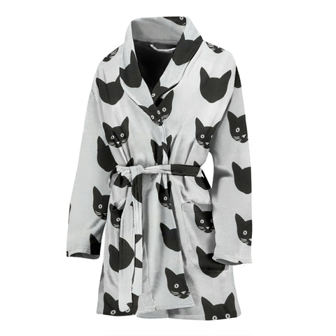 Bombay Cat Pattern Print Women's Bath Robe