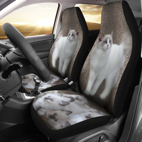 Ragdoll Cat Print Car Seat Covers