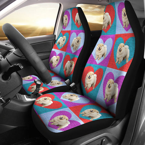 Chow Chow Dog Print Car Seat Covers