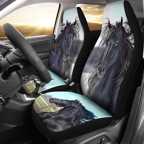 Friesian Horse Print Car Seat Covers