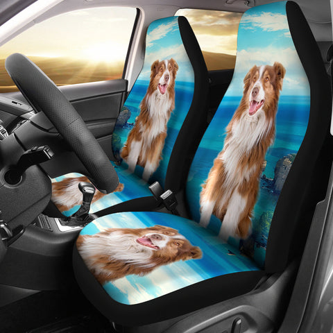 Australian Shepherd Print Car Seat Covers