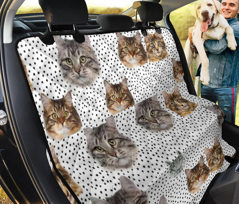 Siberian Cat face Print Pet Seat Covers