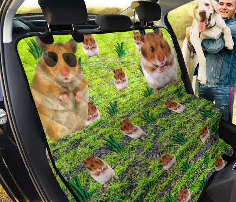 Cute Syrian Hamster Print Pet Seat Covers