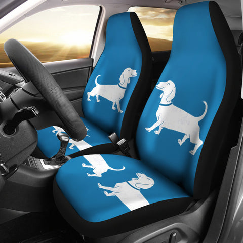Cute Dachshund Dog Print Car Seat Covers