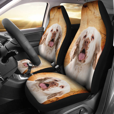 Clumber Spaniel Print Car Seat Covers