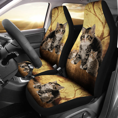 Siberian Cat Print Car Seat Covers