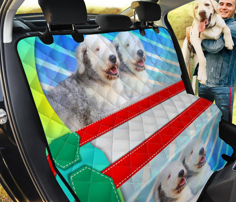 Cute Old English Sheepdog Print Pet Seat Covers