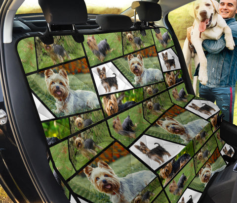 Yorkie Collage Print Pet Seat Covers