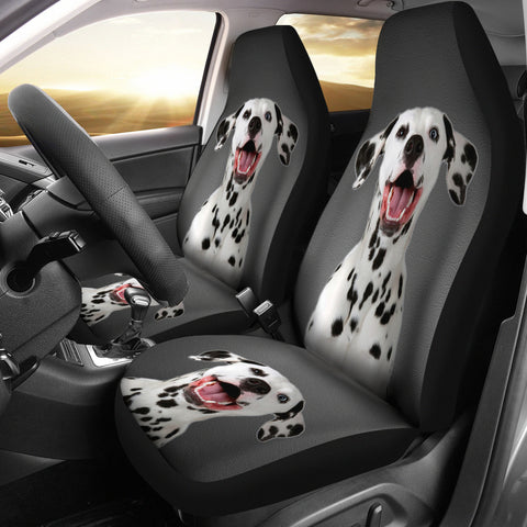 Cute Dalmatian Dog Print Car Seat Covers