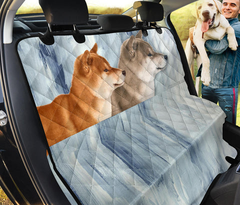 Cute Shiba Inu Print Pet Seat Covers