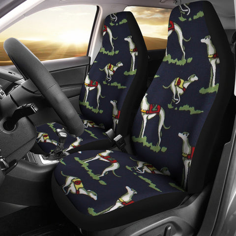 Whippet Dog Patterns Print Car Seat Covers