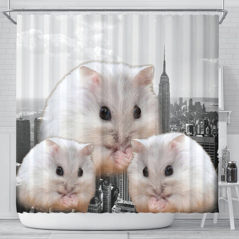 Amazing Chinese Hamster Print Shower Curtains