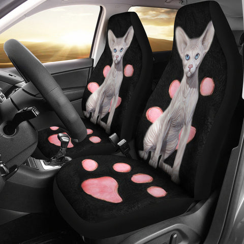 Sphynx Cat Print Car Seat Covers