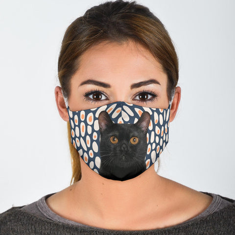 Cute Bombay Cat Print Face Mask