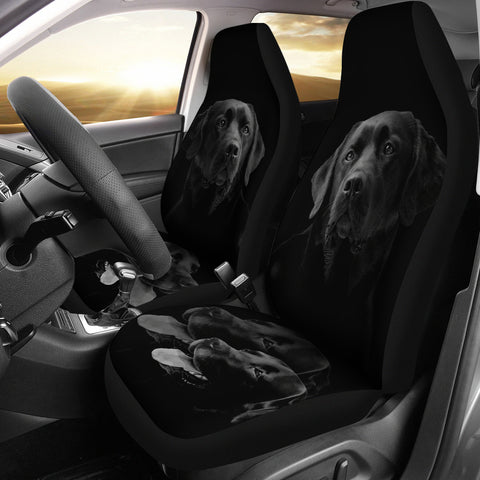 Black Labrador Retriever Print Car Seat Covers