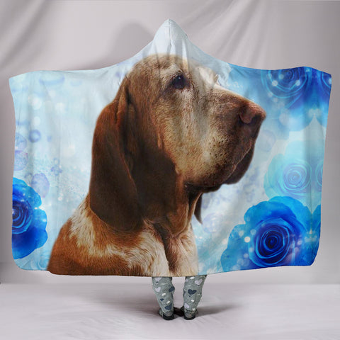 Bracco Italiano Dog Print Hooded Blanket