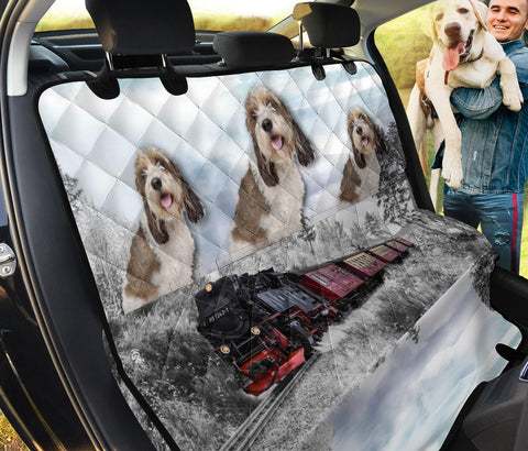 Petit Basset Griffon Vendeen Print Pet Seat Covers- Limited Edition