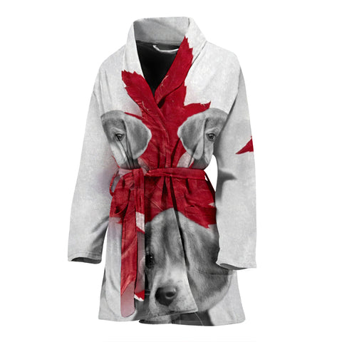 Beagle Dog Print Women's Bath Robe