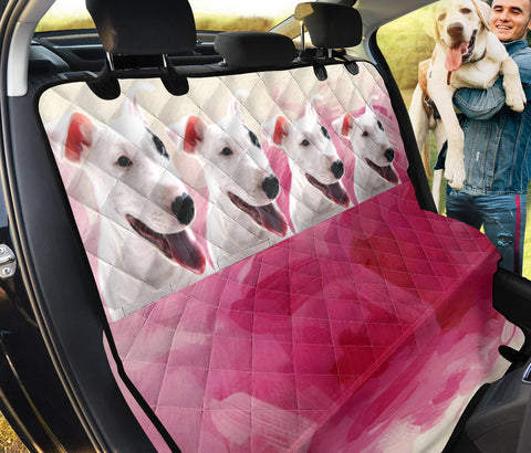 Cute Bull Terrier Print Pet Seat Covers