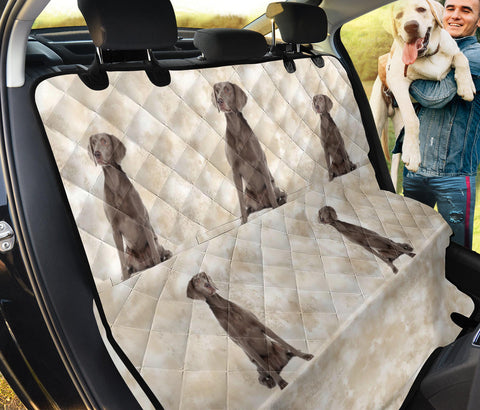 Lovely Weimaraner Print Pet Seat Covers